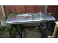 Stainless Steel double sink (Delivery)