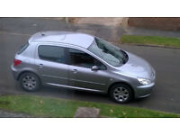 2005 PEUGEOT 307 S HDI 90 GREY (CLUTCH ON ITS WAY OUT) REPAIR OR SPARES