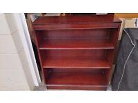 Mahogany Bookcase with 3 Shelves - Used