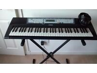 Yamaha electric key board with stand and headphones