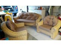 Cane Chair Set - Excellent Condition