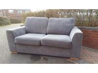 3 seater and 2 seater grey sofas