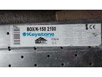 150mm x 150mm x 2.1m New Box K Keystone lintel, Never used