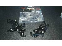 Honda cbr1000rr 2004 - 2007 cbr600 2003 - 2006 black adjustable rearsets