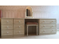 Bedroom dressing table and drawers