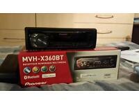 Pioneer Car Radio Digital Media Reciever MVH-X360BT Bluetooth/Aux/USB