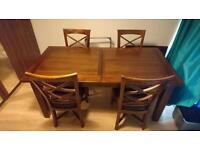 Lovely Solid Wood Dining Table and 4 Chairs