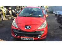 2008 Peugeot 207 M PLAY 3dr 1.4 Petrol Red BREAKING FOR SPARES