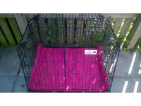 X-large SLOPING CAR DOG/PUPPY CAGE, ESTATE & 4x4 BOOT TRAVEL - £80 ono