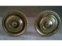 Large brass Regency stem style fabric holdback/curtain tie-back , excellent condition. sold as pair