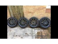 "Lexus is200 facelift alloy wheels! 17"" 225/45/17 5x114.3! Almost new Nankang NS2 tyres!"