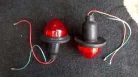 round red rear lights brake n tail lamps.