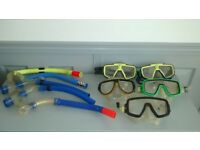 SNORKLING Masks & Mouth Pieces. Kids & Adults. £5 per set or £10 for all 3 sets.