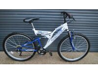 BRITISH EAGLE SUSPENSION BIKE IN EXCELLENT LITTLE USED CONDITION. (SUIT TEENAGER / ADULT).