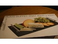 Slate Buffet Tray With Handle 40 X 20cm