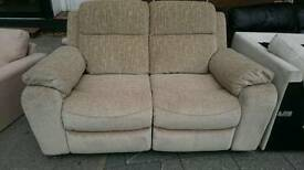 Large two seater electric recliner.