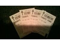 4 tickets to Thorpe park