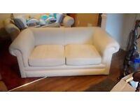 Cream sofa, good condition, collection Rocester, £30 ono