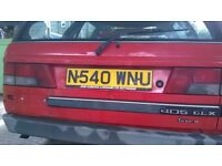 Peugeot 405 GX TDi Estate Red. Great engine, reliable for last 17 years, MOT failed , welding chasis