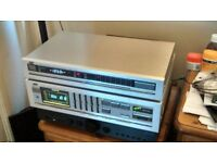 Vintage Amplifier JVC A-X50 65w per channel digital graphic equaliser 1982 groovy display.