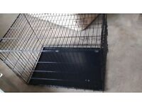 LARGE GOOD CONDITION DOG CAGE,61CM WIDE,90 CM LONG,63CM TALL