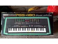 Yamaha PSS-480 portasound Keyboard/ Synthesizer music station in its box