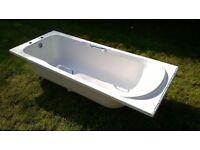 Bath with chrome handles