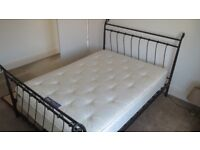 Double bed with mattress - clean and tidy, no pets or smokers.