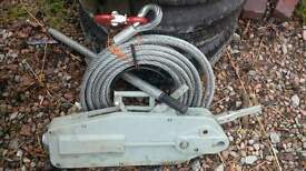 4 tonne steel cable winch