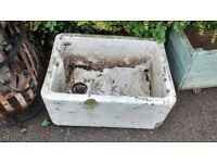BUTLER SINK MEASURES APPROX 59 CM LONG X 46 CM WIDE X 25 CM HIGH