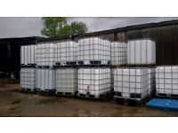 Refurbished IBC Container 1000 litres on Pallet Water Storage Tank