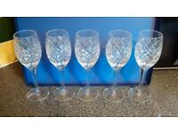 cut glass crystal dinner wine glasses