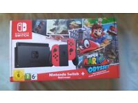 Nintendo Switch Mario Odyssey Edition plus 2 Games - New