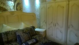 4 door Shabby Chic French carved Louis style armoire,wardrobe,dressing table bed. and bedroom set