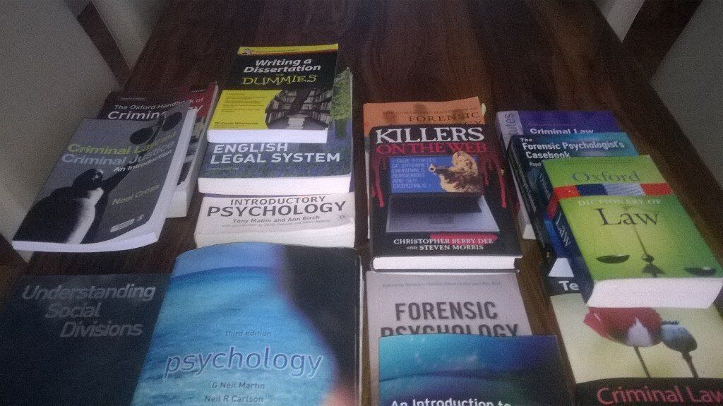 Assortment of Forensic Phycology and Criminal Justice Books | in Garston,  Merseyside | Gumtree