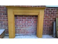 Wood fire surround / mantelpiece