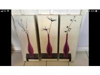 Set of 3 canvas art by Yves Blanc