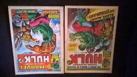 2x hulk comics.