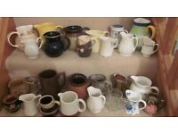 Jugs - assortment of 27. For use or good for a display, both old and new