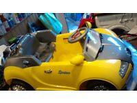 Bugatti Veyron Electric ride on sports in yellow (New)