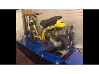 DYNO DYNAMOMETER POWER RPM TEST CARDIFF - SCOOTER MOTORBIKE!