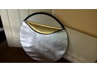 Studio gold/silver reflector aprox 3 ft VGC