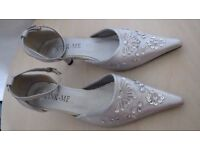 Silver Grey Woman Shoes uk size 4. USED once , Like new.