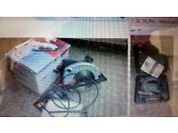 Bosch SDS Orbital Jigsaw PST 650 & Performance Pro Circular Saw 1200w 184mm 7-1/4 - 1 Owner