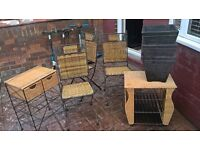 GARDEN CHAIRS, PLANTER, AND OTHER PIECES LOOK CHEAP
