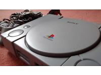 SONY PlayStation 1 Console MINT + Controller + Leads SCPH-5552 Grey PS1 One PAL UK