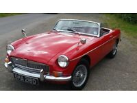 MG ROADSTER 1966 D REG