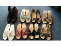 8 pairs of ladies shoes size 7 brand new