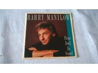 "Barry Manilow Please Don't Be Scared 7"" Single with poster -can post for extra-"