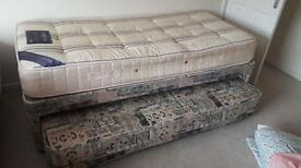 Single bed with guest bed and both mattress